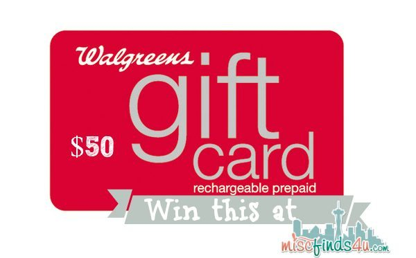 Win a $50 Walgreens gift card from MiscFinds4u.com