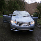 One of our many stops on the way home in our 2013 Chrysler Town and Country Minivan
