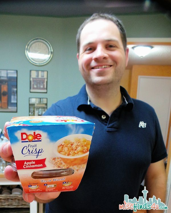 Brian chooses his quick fix snack from the line-up of DOLE Fruit Crisps
