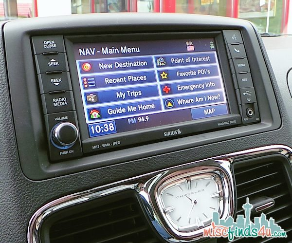 Navigation features overview - Chrysler Town and Country Minivan: Seattle to Seal Rock OR #chrysler