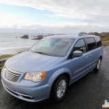 We arrived at sunset to this stunning view! Chrysler Town and Country Minivan: Seattle to Seal Rock OR #chrysler