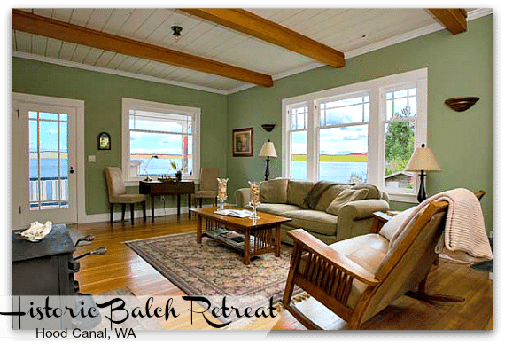 Balch Waterfront Retreat Vacation Rental WA State