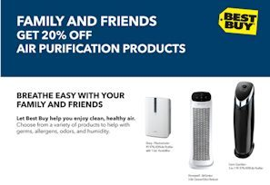 Best Buy Air Purifier Friends & Family 20% Off Coupon