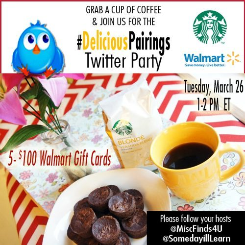 Photo Credit: Kristy Still RSVP for the Starbucks/Walmart Delicious Pairings Twitter Party - FIVE $100 Walmart Gift Cards