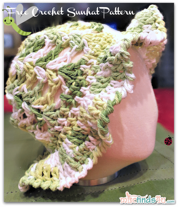 Crochet How To - Free Kids Sun Hat or Easter Bonnet Pattern