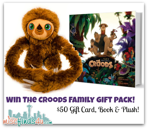 Win the Croods Family Gift Pack Giveaway at MiscFinds4u.com