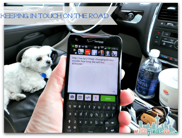 The Verizon HTC Droid DNA keeps me in touch while on the road