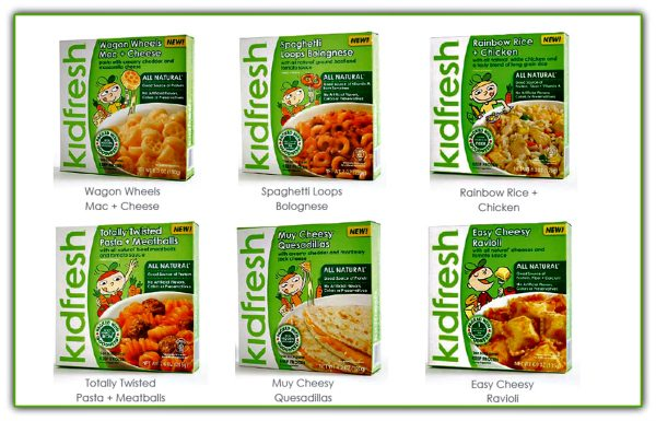 The full line of Kidfresh frozen foods