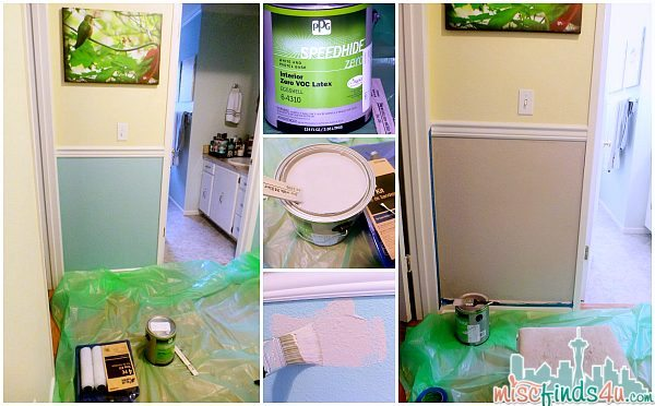 """Updating a hallway with paint as part of the PPG Pittsburgh Paints The Voice of Color """"Refresh Your Space"""" challenge"""