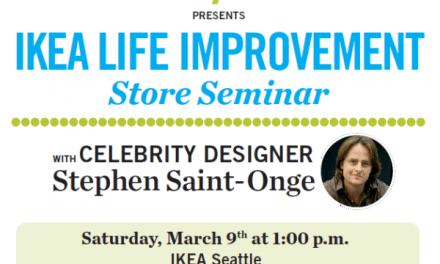 Seattle IKEA Life Improvement Store Seminar Stephen Saint-Onge 3/9