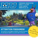 Monsters University Freshman Orientation - Disney Pixar Blogger Event 2013
