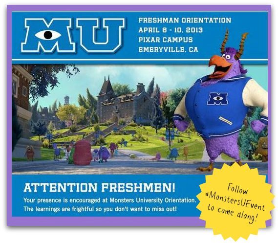 Monsters University Freshman Orientation - Disney Pixar Blogger Event 2013