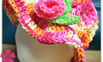 Free Kids Sun Hat or Easter Bonnet Crochet Pattern