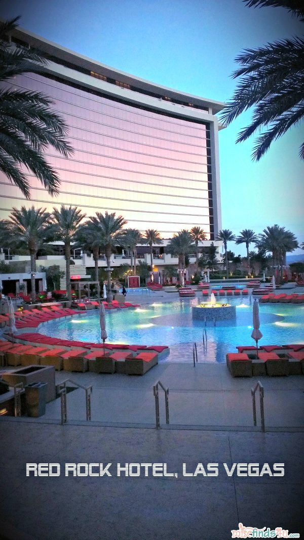 Red Rock Casino and Spa Pool at Dusk taken with a Droid DNA camera phone
