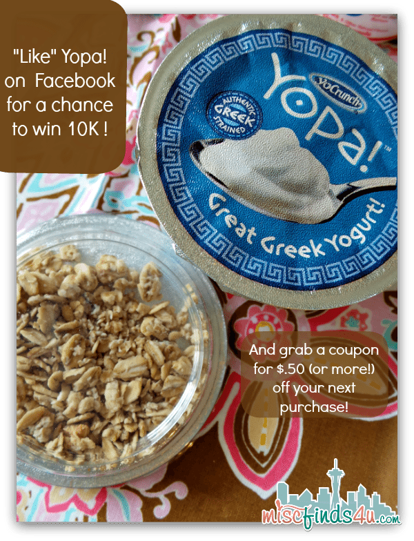Yopa Greek Yogurt Facebook Contest and Coupons