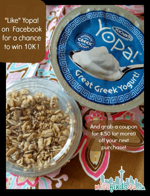 Yopa Greek Yogurt Facebook Contest and Coupons