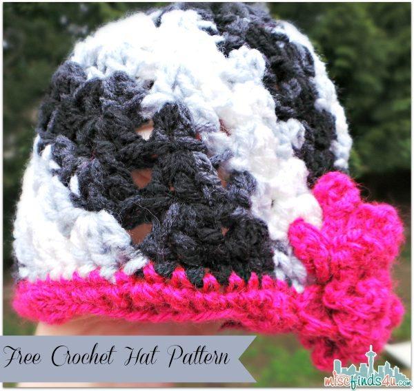 Zebra Swirl Free Crochet Hat Pattern