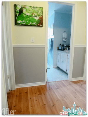 """Hallway Update - PPG Pittsburgh Paints The Voice of Color """"Refresh Your Space"""" challenge"""