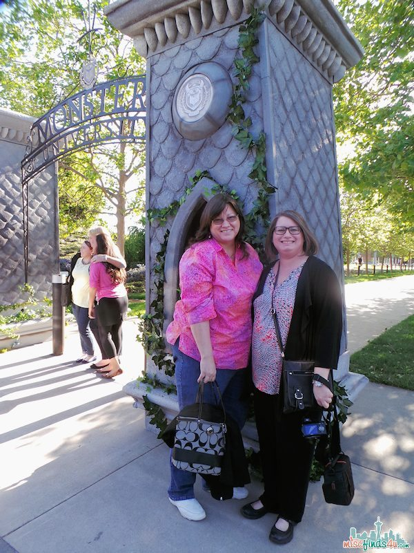 Entering the gates of Monsters University - me and Angela (Aboutamom.com)