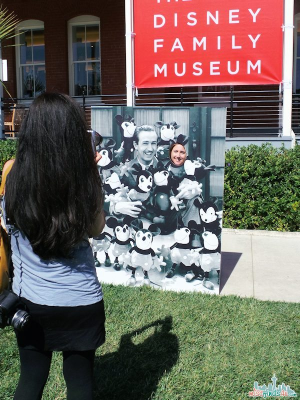 Take a picture with Walt and his friends in front of the museaum