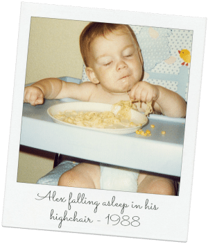 Alex's beige meals started early - we lost the food war.