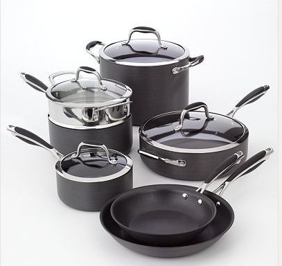 Hand Washing is required for the Bobby Flay™ 11-pc. Hard-Anodized Cookware Set - Photo Credit: Kohls.com (used with permission)