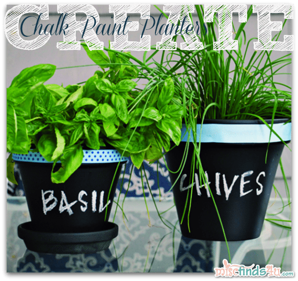 Create Chalk Paint Planters