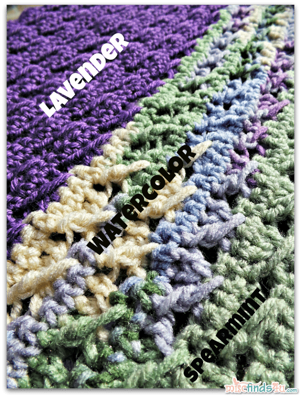Crochet How To Enlarge a Pattern and Color Ideas - Free Blanket Pattern