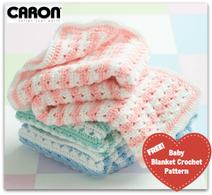 Free Caron One Pounder Crochet Baby Blanket Pattern plus alternatives