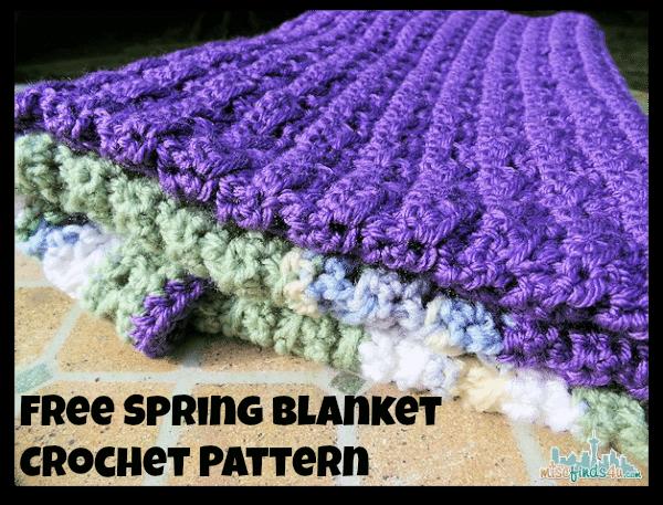 Free Spring Blanket Crochet Pattern