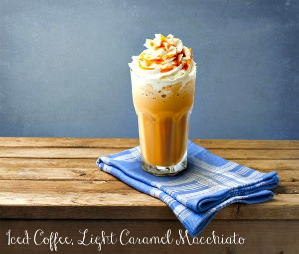 Iced Coffee, Light Caramel Macchiato