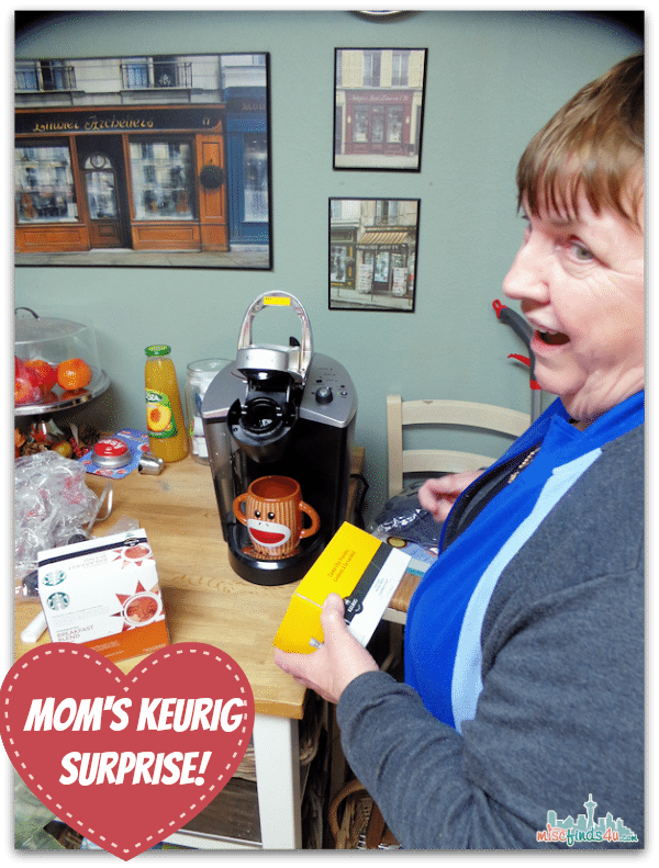 Mom's Keurig Surprise - That's one happy 75-year old woman!