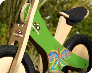 Personalized Kinderfeets Push Bike in Green