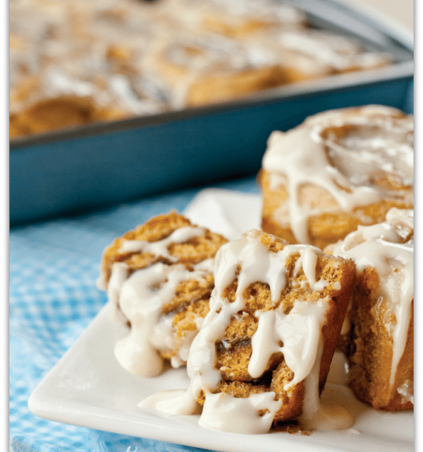 Recipe: Pumpkin Cinnamon Rolls from More Peas, Thank You