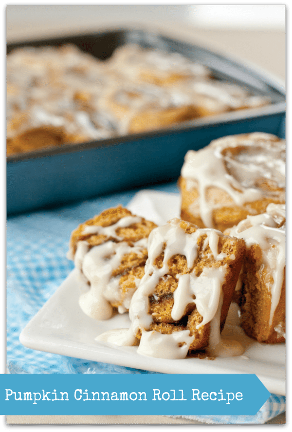 Recipe: Pumpkin Cinnamon Rolls from More Peas, Thank You - Baby to ...