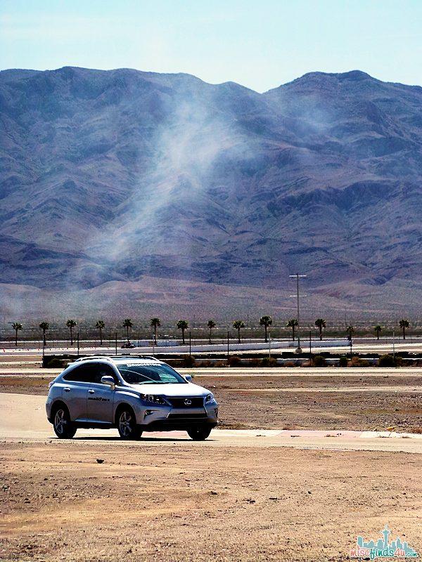 Car: Test driving Bridgestone Tires on luxury cars at the Las Vegas Motor Speedway