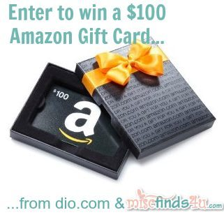Enter to win a $100 Amazon Gift Card from dio.com and MiscFinds4u.com