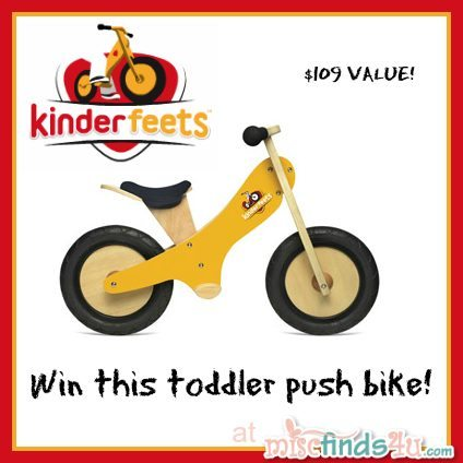 Win this Kinderfeets Balance Bike for toddlers at MiscFinds4u