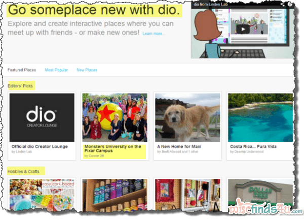 dio - a new creative social sharing experience