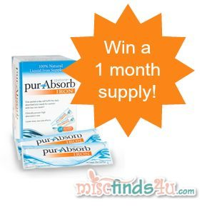 Win a 30-day supply of purAbsorb at MiscFinds4u.com