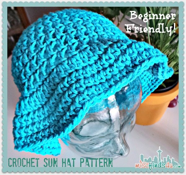 Beginner Crochet Sun Hat Pattern
