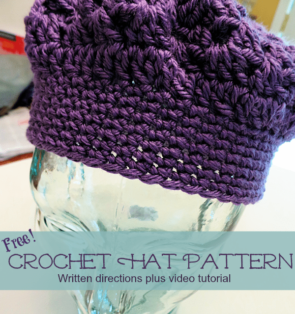 Crochet How To Free Adult Hat Pattern And Video Tutorial Baby To