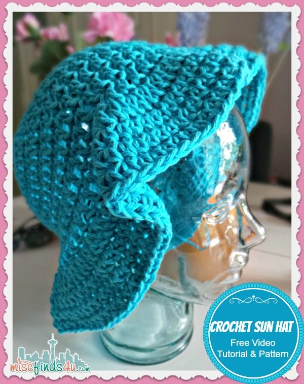 Free Crochet Patterns Baby Swaddlers : Crochet Sun Hat - Free Pattern and Video Tutorial