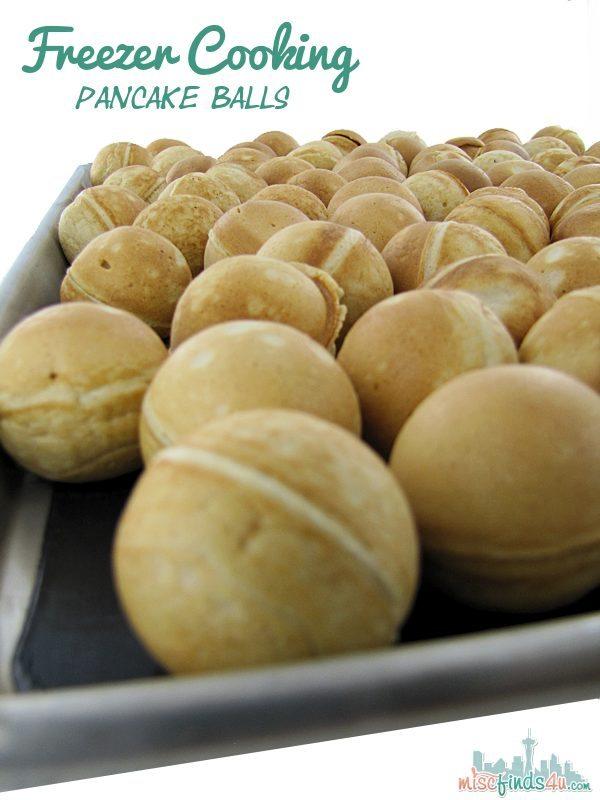 Freezer Cooking - Pancake Balls