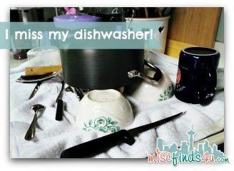 Handwashing Dishes - I think we'll eat out until the new dishwasher arrives