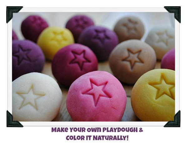 Homemade Playdough Colored with Natural Dyes Recipe - Easy to make, non-toxic, and fun for kids!