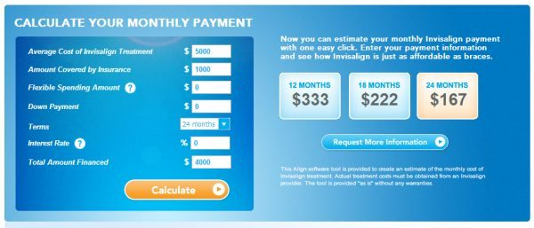 Invisalign Costs and Payment Calculator