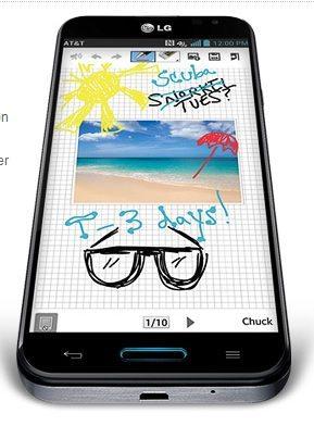 LG Optimus G Pro QuickMemo
