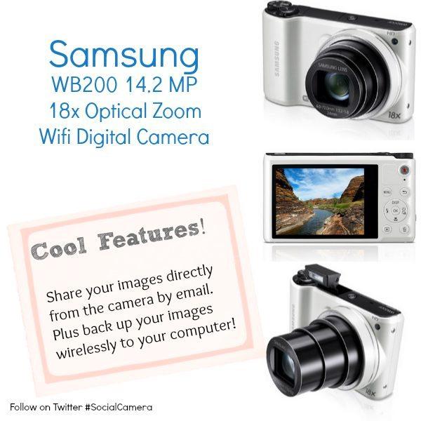 Samsung Camera WB200 18x Optical Zoom