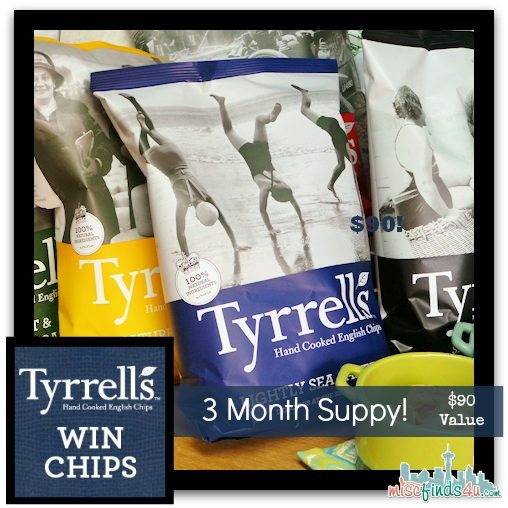 Win a 3 month supply of Tyrrells Chips